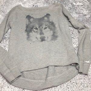 Hollister hi low wolf sweatshirt S